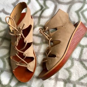 Lucky Brand Lace-up Wedge Sandal